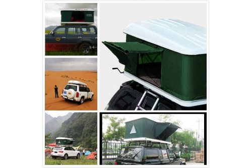 Hard Shell Roof Tent Camping Camper Trailer 4x4 Top Roof Rack Car 125 2p