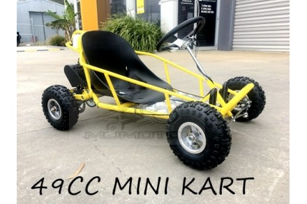 Brand New 49cc Mini Go Kart 4 Wheeler Kids 2 Stroke Buggy Quad Atv Yellow