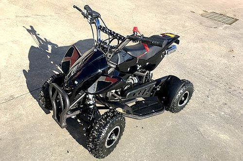49CC MINI QUAD BIKE ATV BUGGY KIDS 4 WHEELER POCKET PIT DIRT BIKE MJMOTOR BLK