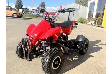 49CC MINI QUAD BIKE ATV BUGGY KIDS 4 WHEELER POCKET PIT DIRT BIKE MJMOTOR RED