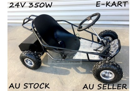 Mini Go Kart 350W 24V Electric Kart 4 Wheeler Kids Buggy Quad Atv Dirt Bike BLK
