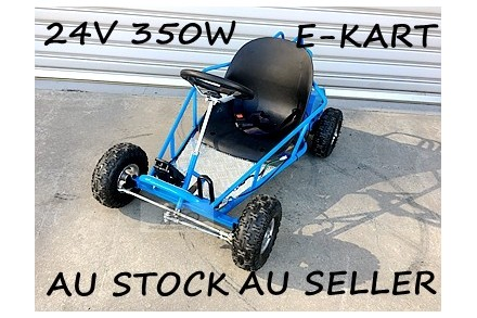 Mini Go Kart 350W 24V Electric Kart 4 Wheeler Kids Buggy Quad Atv Dirt Bike blue