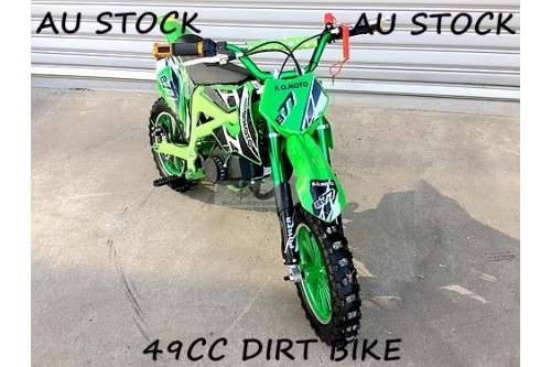 49CC MINI MOTOR DIRT BIKE KIDS POCKET ROCKET PEE WEE MOTORCYCLE ATV 50CC green