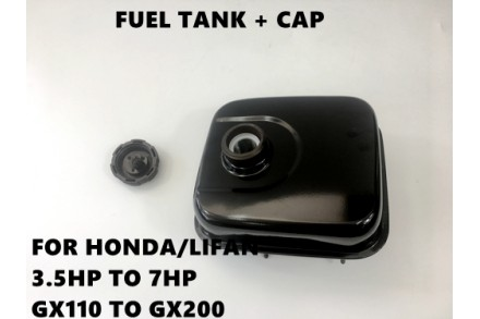 Gas Petrol Fuel Tank+Cap Honda Engines Motors GX120 GX140 GX160 GX200 5.5HP 6.5HP