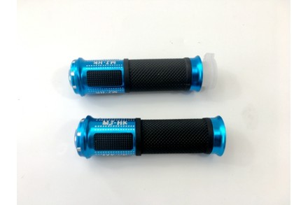 "Pair of 7/8"" 22mm Universal Motorcycle Motorbike Handlebar Hand Grips Blue"