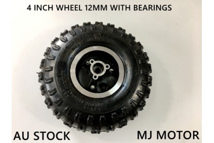 "4.10- 4"" Inch Wheel Rim + Tyre Tire 49cc Mini Quad Bike ATV Buggy 12mm Bearings"