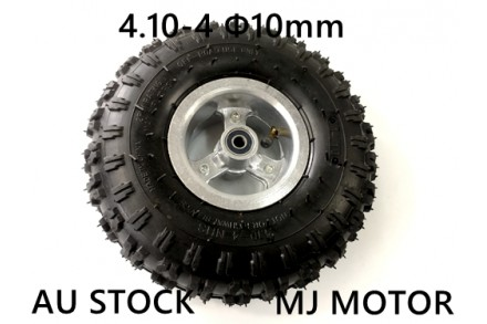 "4.10- 4"" Inch Wheel Rim + Tyre Tire 49cc Mini Quad Bike ATV Buggy 10mm Bearings"