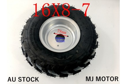 "7 inch Wheel Rim Tyre Quad Bike ATV Buggy Gokart 3 Stud 16 X 8-7"" Trike Project"