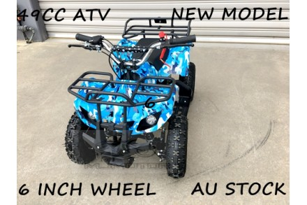 49CC MINI QUAD BIKE ATV BUGGY KIDS 4 WHEELER POCKET PIT DIRT BIKE MJMOTOR BLUE