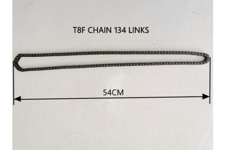 Black T8F 134 Links Drive Chain PIT Quad Dirt Bike Buggy Trike Kart