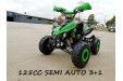 125CC ATV Sport Quad Dirt Bike 4 Wheel Buggy Go kart Rear Rack Semi Auto 3+1 GREEN