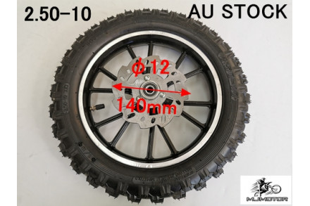 2.5-10 10 INCH FRONT WHEEL DISC PIT PRO DIRT BIKE TRAIL BIKE 49CC 50CC DIRT BIKE