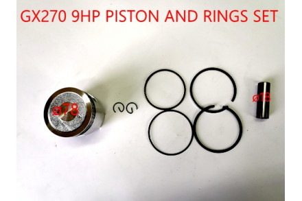 18mm 78mm Pin Piston Rings Kit HONDA STATIONARY COPY 9HP GX270 ENGINE GOKART
