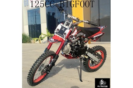 2017 BIGFOOT 125CC PIT MOTOR DIRT BIKE TRAIL MOTOCROSS TERRAIN PRO KICK START BLACK