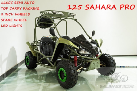 125CC Buggy ATV Sport Quad Dirt Bike 4 Wheel Go kart Semi Auto SAHARA PRO Green