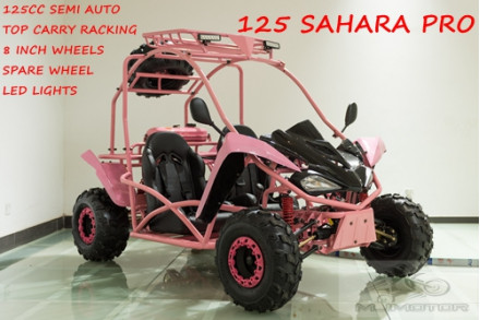 125CC Buggy ATV Sport Quad Dirt Bike 4 Wheel Go kart Semi Auto SAHARA PRO PINK