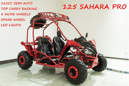 125CC Buggy ATV Sport Quad Dirt Bike 4 Wheel Go kart Semi Auto SAHARA PRO RED
