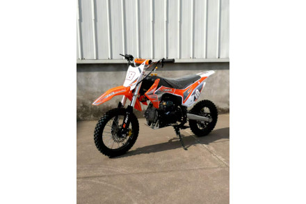 110cc Dirt Bike Trail Pit Bike Motor Electric Start Manual Junior Bike Kid Orange