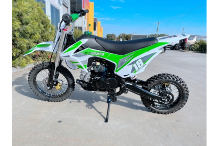 110cc Dirt Bike Trail Pit Bike Motor Electric Start Semi Auto Junior Bike Kid Green
