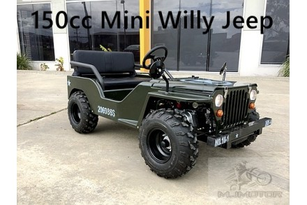 2017 150cc Mini Willy Jeep Replica 2WD Semi Auto Golf Cart Twin Seat Kids Adults