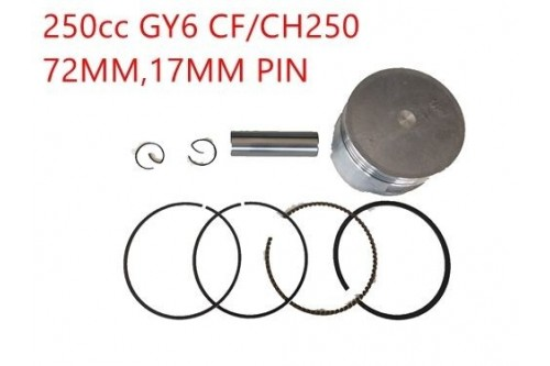 Gy6 CN CF 250cc Piston & Rings set 72mm Quad buggy scooter Kinroad Twister Kandi