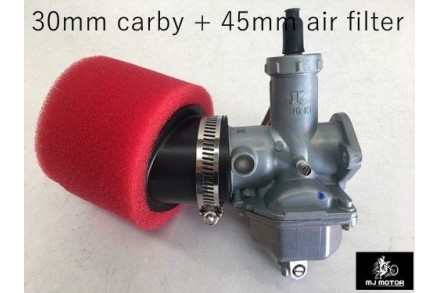 30mm Carby Carburetor + Foam Air Filter 110cc 125cc PIT Quad Dirt Bike ATV Buggy