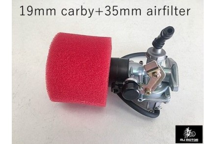 19mm Carby Carburetor + Foam Air Filter 110cc 125cc PIT Quad Dirt Bike ATV