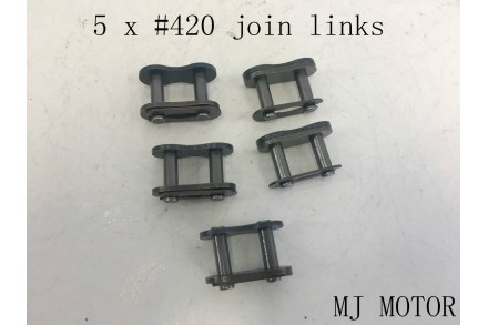 5 X 420 Chain Master Joiner Links Pro PIT Trail Quad Dirt Bike ATV Buggy UTV