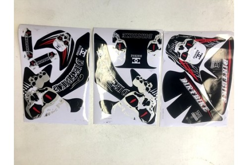 SKULL HONDA CRF 50 STICKERS GRAPHICS KIT DIRT/PIT 50/70/110/125CC PITPRO