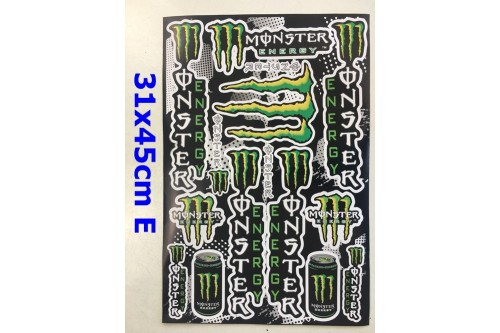 New Monster Energy Stickers Motorcycle Dirt Bike ATV Decals Car Motorised Bike B